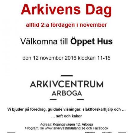 Arkivens Dag-affisch Arboga