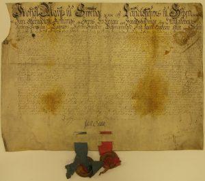 Fastebrev från 1748 ur Fagersta bruksarkiv