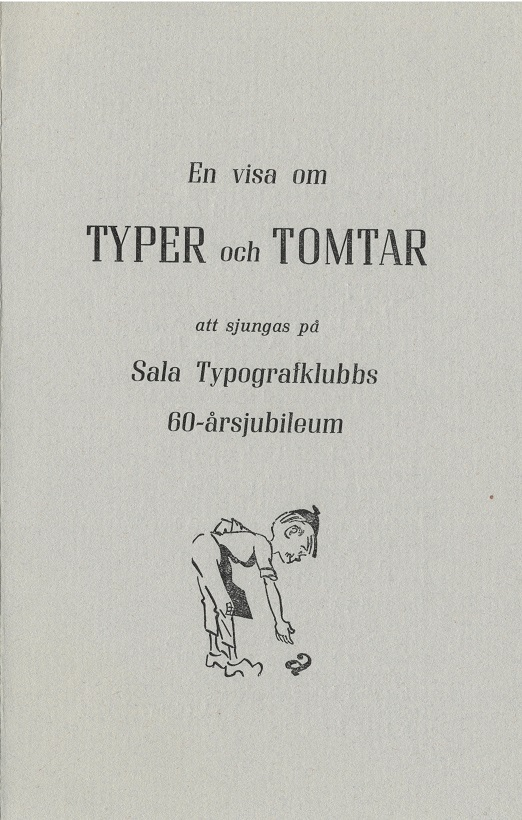 Sala Typografklubbs sånghäfte