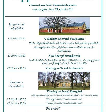 Program i samband med årsmötet 2018